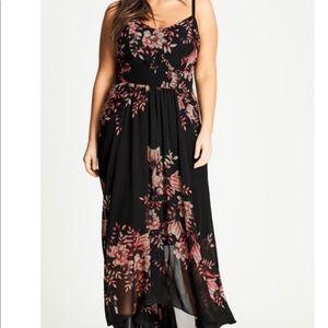 NWT city chic maxi antique floral dress